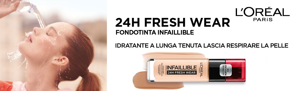 fondotinta, lunga tenuta, l'oréal paris, Infaillible, 24H, make-up, idratante