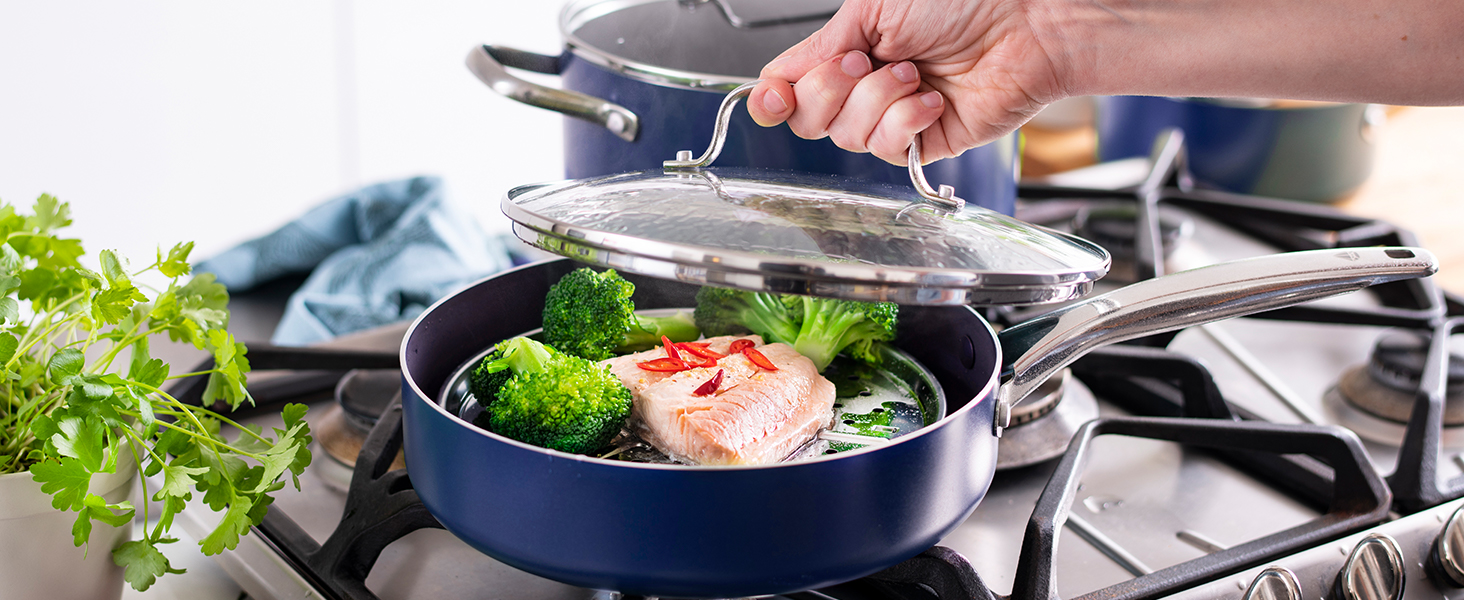 Blue Diamond, Ceramic Nonstick, Glass Lids, durable, dishwasher safe, toxin free, easy to clean