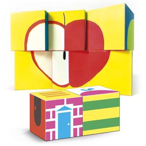 Clementoni - Cubos para colocar en el interior