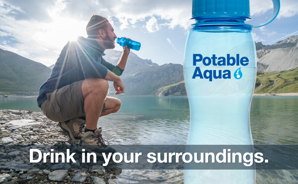 Potable Aqua, water purification, purification tablets