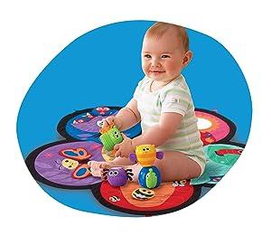 Lamaze Spin Amp Explore Garden Baby Gym Play Mat Lamaze