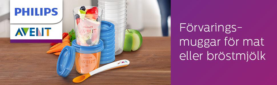 Philips Avent Förvaringsmuggar för mat SCF721/20