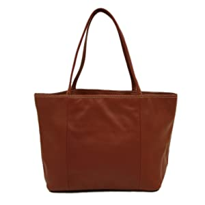 Full Grain Cowhide Leather Womens Tote, 12 x 10 x 5 inches