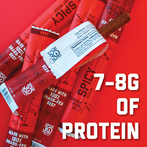 high protein, whole30 approved, meat sticks, spicy, beef stick