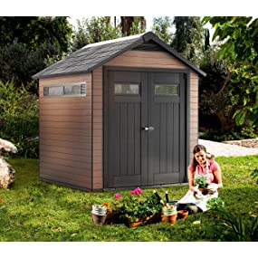 Keter Fusion Outdoor Storage Sheds Building Patio Storage