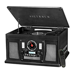 Victrola Navigator 8-In-1 Classic Bluetooth Record Player with USB Encoding and 3-Speed Turntable