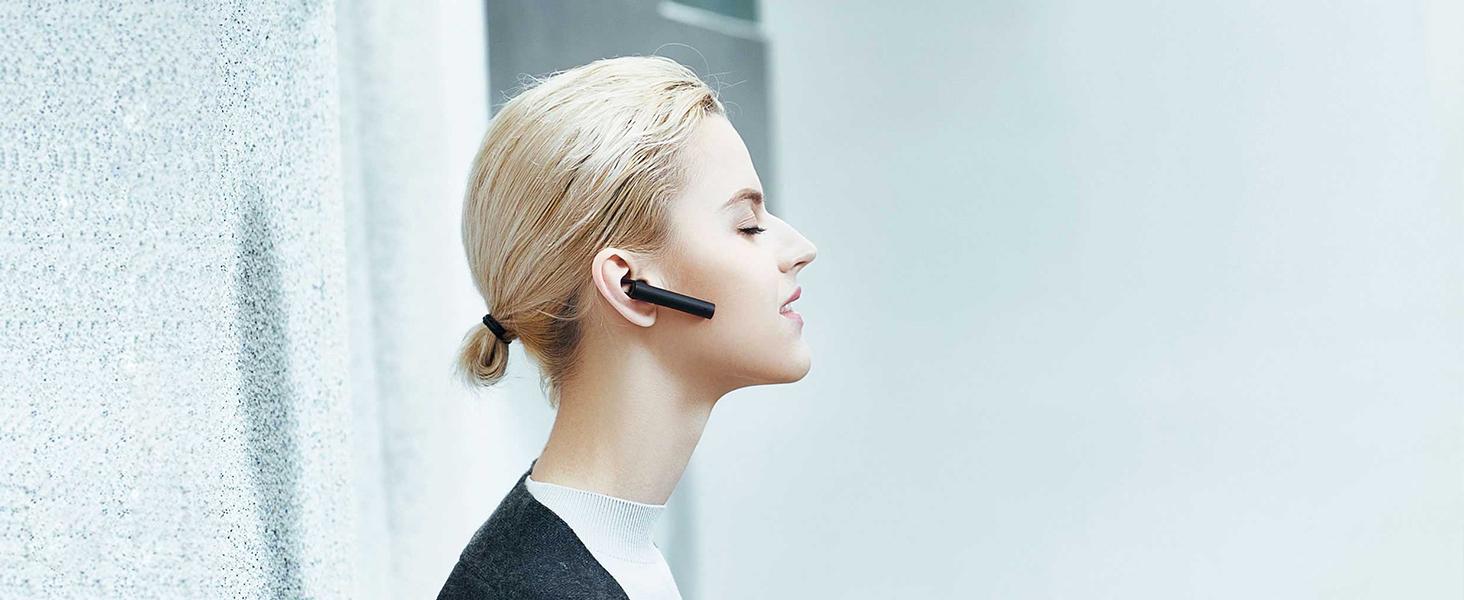 Amazon Com Mi Bluetooth Headset Wireless Earpiece Hands Free Earphones With Mic Amp Charging Dock