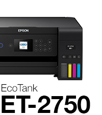 Epson Expression ET-2750 EcoTank Wireless Color All-in-One Supertank Printer with Scanner and Copier