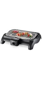 Severin PG 2790 Barbacoa Gril, 2.500 W, Negro, Superficie de grill ...