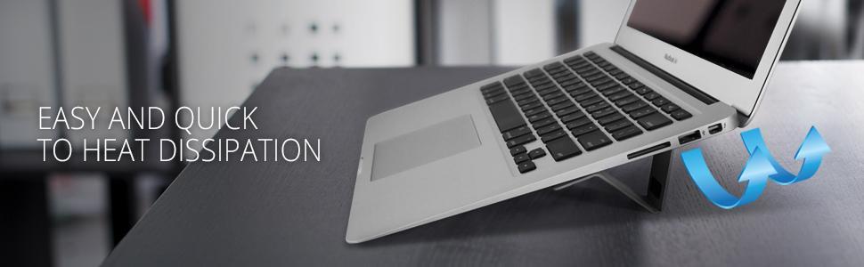 Ringke Laptop Stand Black Universal Smart Folding Multi Angle Adjustable Portable Slim