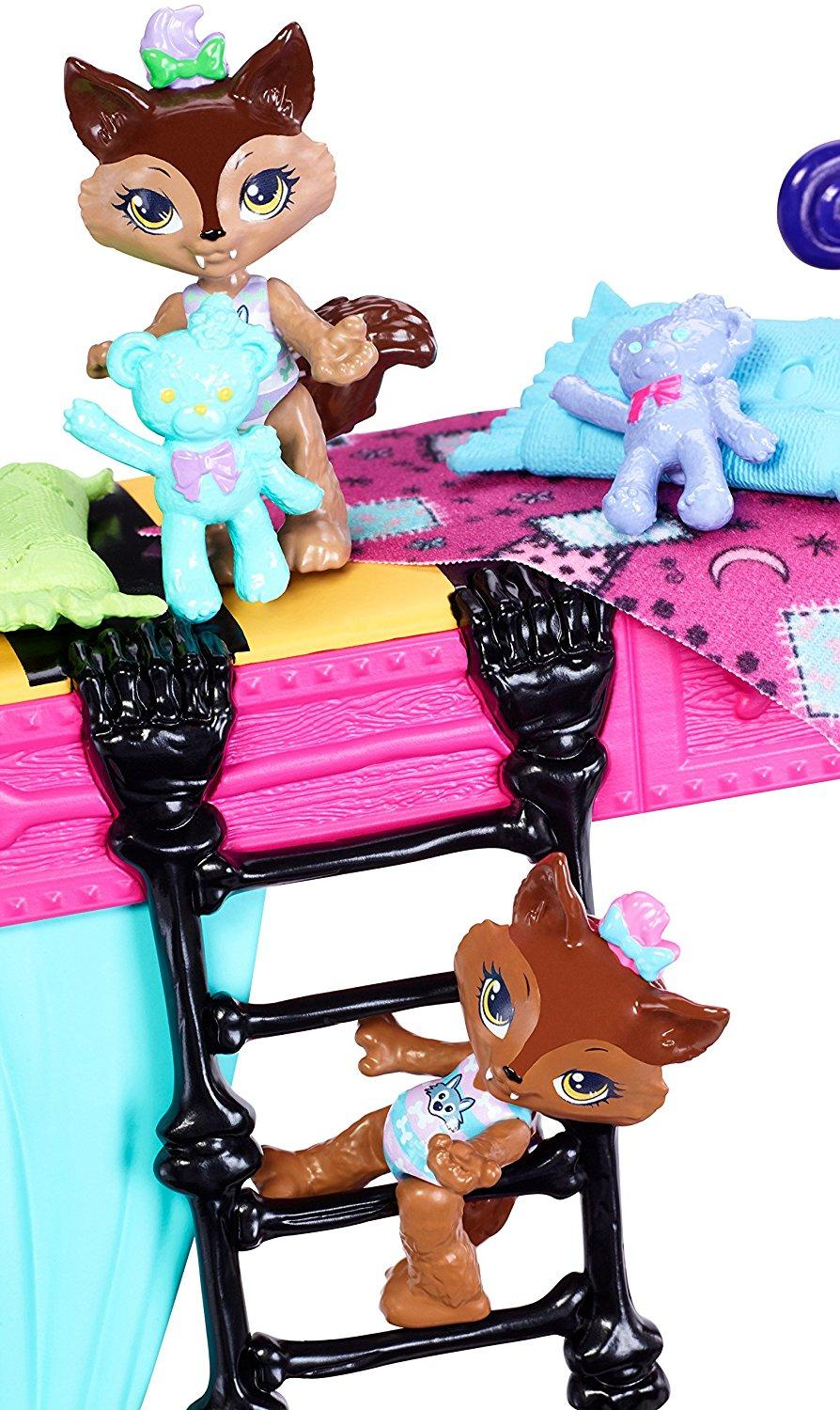 monster high family bunk bed pawla wolf packlyn weredith siblings clawdeen 2018 ebay. Black Bedroom Furniture Sets. Home Design Ideas