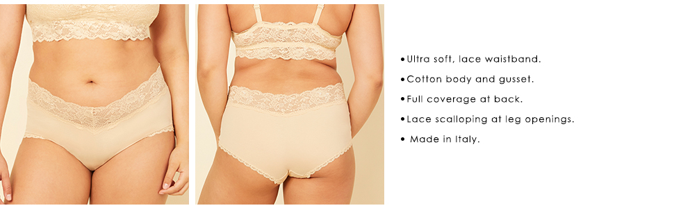Cosabella Womens Plus-Size Never Say Never Cheekie Cotton Hotpants Panty