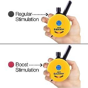 Regular Stimulation and Boost Stimulation buttons