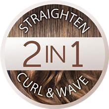 Remington S6606 Curl & Straight Confidence - Plancha de Pelo, Alisador y Rizador 2 en 1, Cerámica, Digital, Resultados Profesionales, Gris: Remington: Amazon.es: Salud y cuidado personal