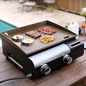 Amazon Com Cuisinart Cgg 501 Gourmet Two Burner Gas