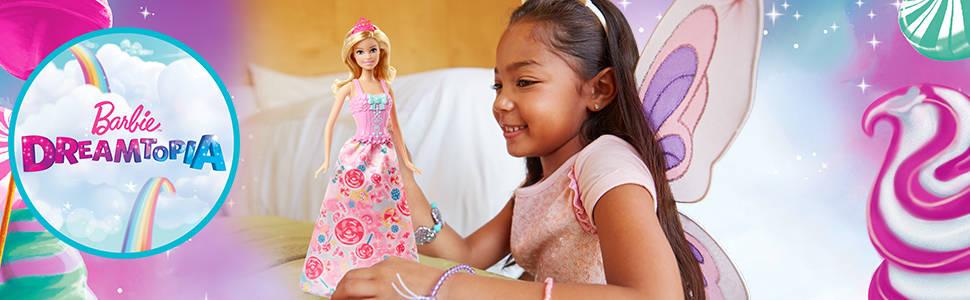 Fee Dreamtopia 3-in-1 Fantasie Puppe Meerjungfrau und Barbie DHC39