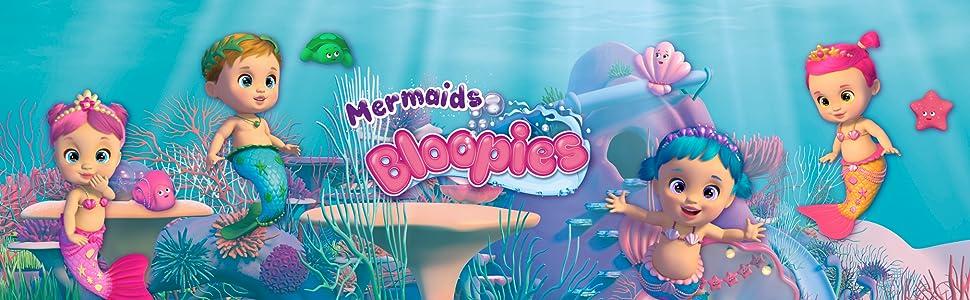 girl toys playset, dolls, collectibles, bloopies, mermaid dolls, bathtub toys