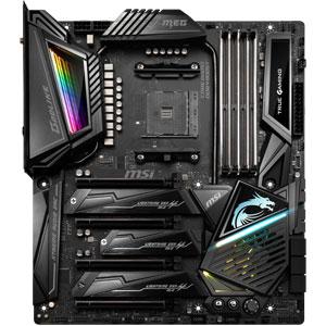 MSI X570 Motherboard; AMD Ryzen Processor; AM4 socket; Ryzen 9; MEG X570 GODLIKE