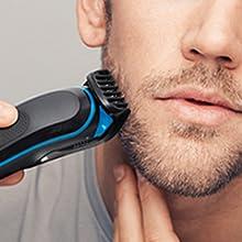 Rifinitura di barba corta, media e lunga