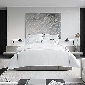 bedding;comforter;duvet;duvet set;luxury duvet;hotel duvet;designer bedding;white duvet;cotton duvet