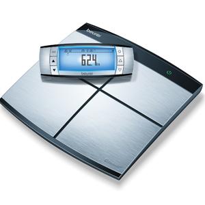 Meting van gewicht, lichaamsvet, lichaamswater, spiermassa, caloriebehoefte (AMR/BMR) en BMI.