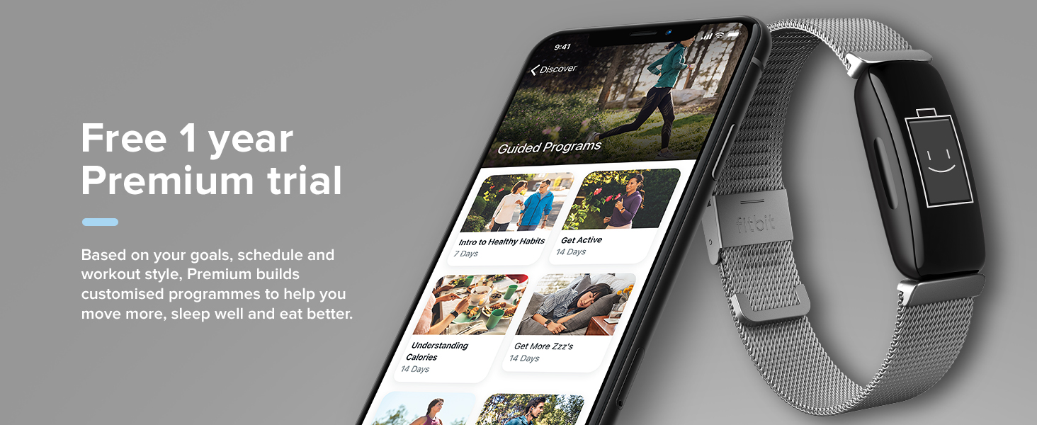 Fitbit Inspire 2 - Free 1 year Premium trial