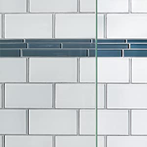 Basco Infinity Frameless Sliding Shower Door Fits 56 58 5