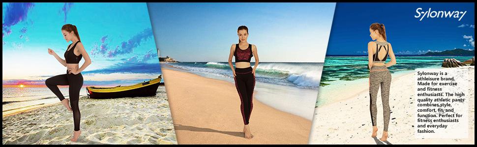 2c378281e4 Amazon.com  Sylonway Women s High Waist Yoga Pants with Pockets ...