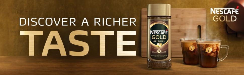 nestle, nescafe, nescafe gold, discover a richer taste, instant coffee