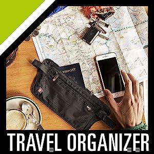 travel organizer to hide money clip pouch wallet purse