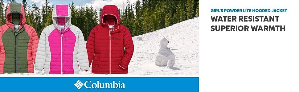 Columbia Powder Lite Girls Omni-Heat Insulated Hooded Jacket