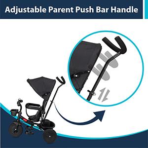 Adjustable & Detachable Parent Push Bar Handle's: