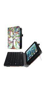 keyboard leather cover accessories 7 inch display protective stand kids edition sleeve bag