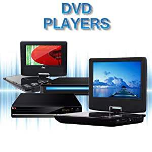 """QFX Portable Home DVD Player Players 7"""" 9"""" inch 7 9 Rechargeable Battery AC Charger"""