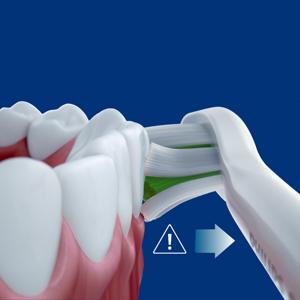 過圧防止センサーで歯ぐきにやさしく磨く