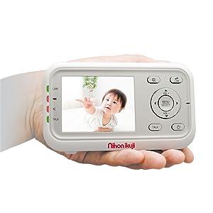 ビデオモニター ベビーモニター スマートビデオモニター デジタルカラー 違う部屋 育児 様子 130g