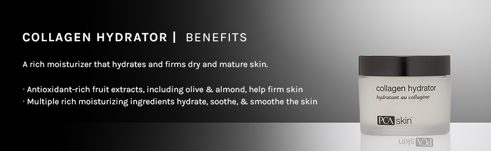 collagen hydrate hydrator rich antioxidant-rich antioxidants olive almond firm soothe smooth