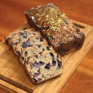 bread, baking, blueberry, desserts