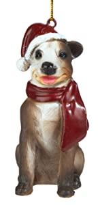 Christmas Ornaments - Xmas Pitbull Holiday Dog Ornaments