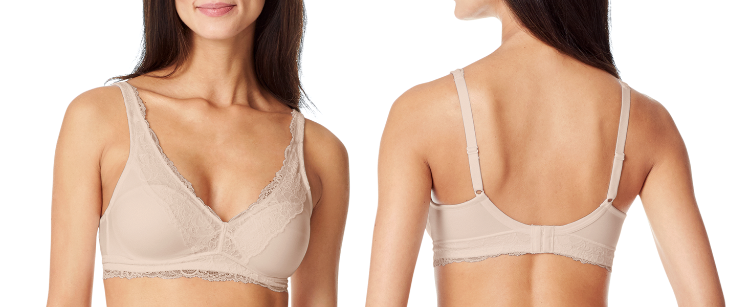d90ef22adaca4 Warner s Women s Escape Wire-Free Contour with Lace Trim Bra at ...