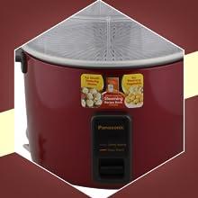 Panasonic SR-WA22H SS- 750 Watt Automatic Cooker Warmer Food Steamer Capacity-2.2 Litre-1.25 Kg Rice
