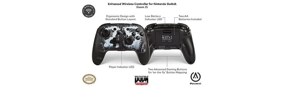 PowerA - Mando inalámbrico mejorado para Nintendo Switch Doom 25 ...