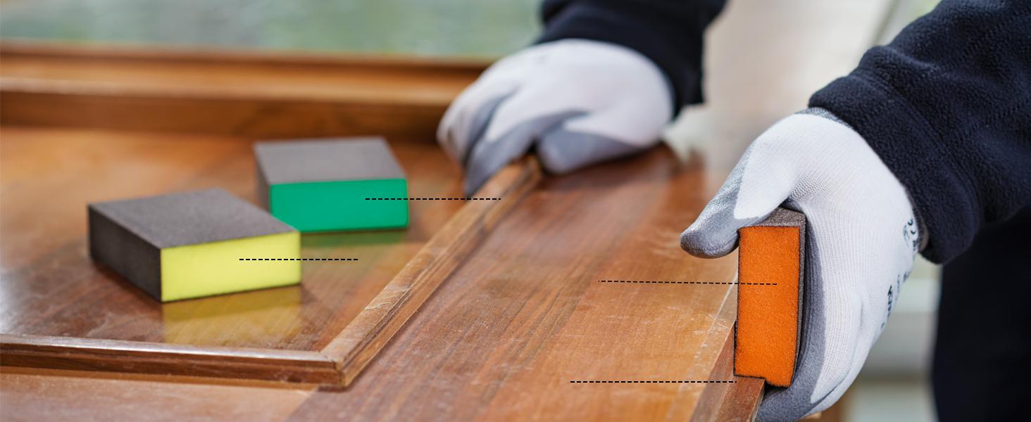 Esponja de lijado, S471, Best for Contour, Bosch, madera, plástico, metal, accesorios, lijado a mano