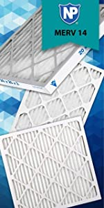 Nordic Pure 17/_1//4x35/_1//4x1 Exact MERV 8 Pure Carbon Pleated Odor Reduction AC Furnace Air Filters 6 Pack