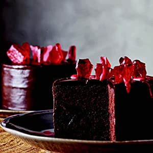 Red Velvet Midnight Espresso Cake with Stained-Glass Candy Shards