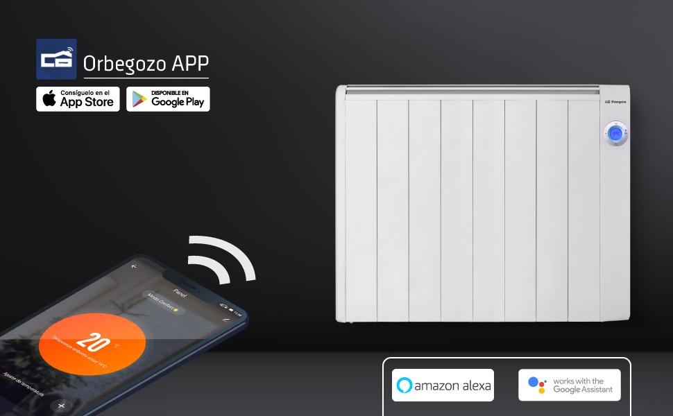 emisor termico orbegozo, emisores termicos, emisor termico wifi orbegozo, orbegozo app, calefactor