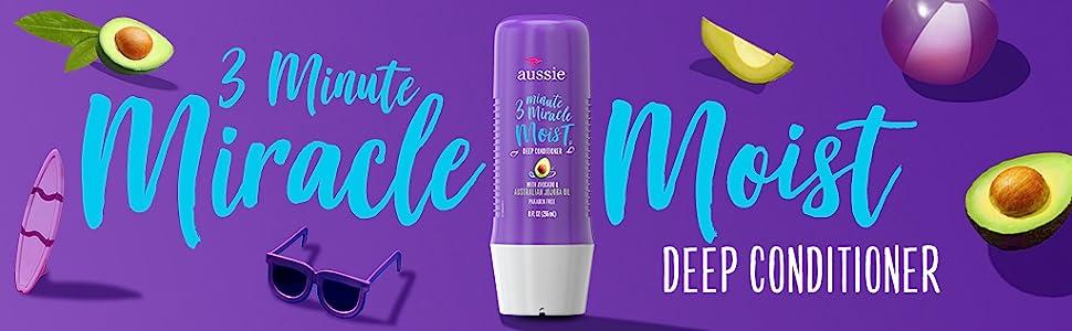 Aussie 3 Minute Miracle Moist Deep Conditioner