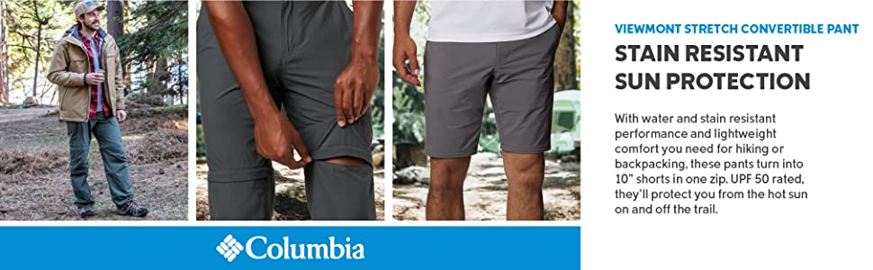 Columbia Men's Viewmont Stretch Convertible Pants