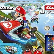 Carrera- First Nintendo Mario Kart Circuito de Coches