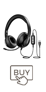 mpow computer headphones with mute usb headset with microphone for pc skype call center headset